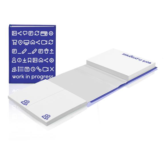 PM119 Set de notas adhesivas con cubierta de tapa dura