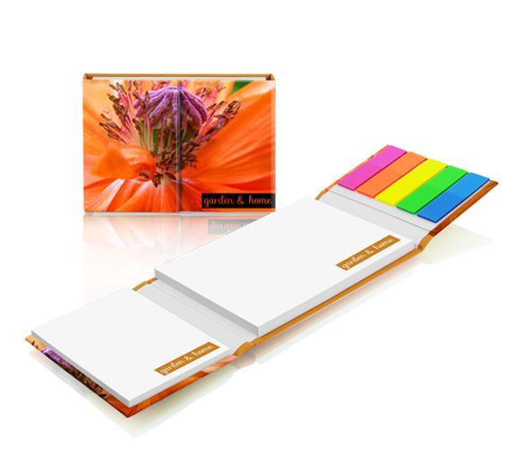 PM140 Set de notas adhesivas con cubierta de tapa dura