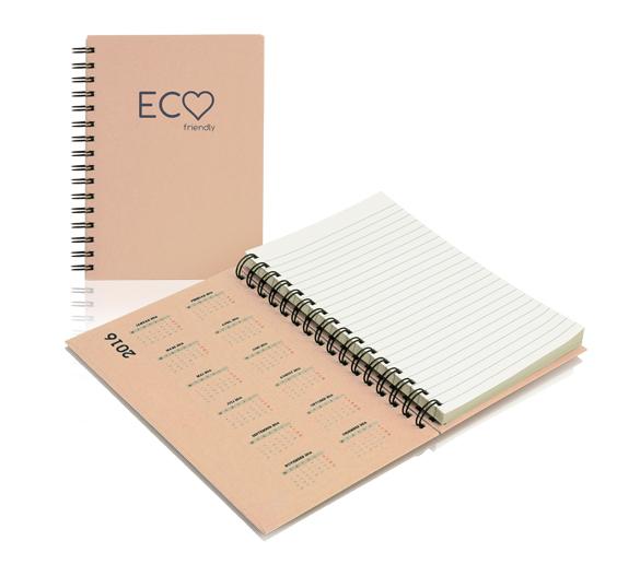 PM300_A5-ECO Blos de notas con cubierta de tapa dura y espirala ECO